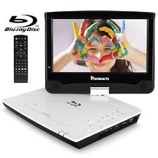 """NAVISKAUTO 10.1"""" Portable Blu Ray Player with Rechargeable Battery Suppor... New"""
