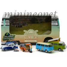 GREENLIGHT 58032 VW VOLKSWAGEN SUMMER FESTIVAL 1/64 6 PIECES SET