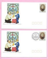 AUSTRALIA 1992 Pair of PSE's - FDC & Mint - 150th Ann. MARY MacKILLOP Shs Penola