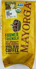 Mayorga USDA Organic Coffee Cafe Cubano Arabica Dark Roast Whole Bean, 2 Pounds
