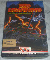 "100% Complete RED LIGHTNING Amiga Big Box Game 3.5"" disk WORLD WAR III 3 SSI map"