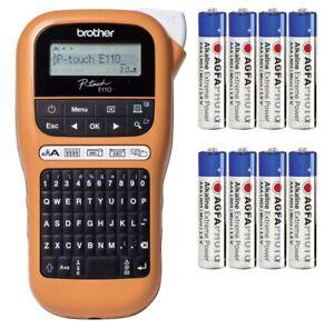 Brother P-touch E110 Beschriftungsgerät Label Gerät Drucker TZe 3.5 6 9 12 +8AAA