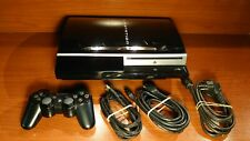 1690 Sony Playstation 3 80GB Piano Black Console CECHL04 + accessories PS3