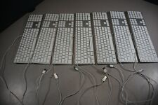 Lot of 7 Apple USB Wired Keyboard with Numeric Keypad A1243 (MB110LL/A)