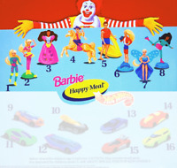McDonald's Barbie 1995 All Set 9 MIP Happy Meal Toys - 2 Kens Black & White
