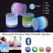 Portátil Bajo Bluetooth Inalámbrico Mini Altavoz para MP3 iPhone iPad + Luz LED