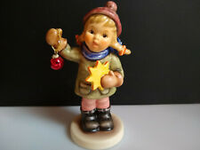 Goebel Hummel Holiday Fun #2204 Christmas Girl Star Red Ornament Holly Stamp