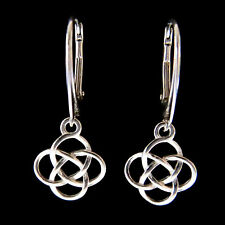 FASHIONS FOREVER® 925 Sterling Silver Five-Fold Celtic Sign Leverback Earrings