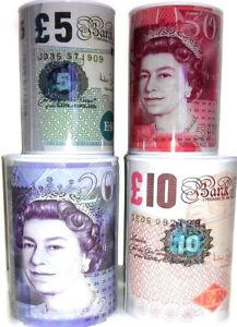 £5 £10 £20 £50 Pound Note Design Kids Money Box Tin Saving Cash Money Coins