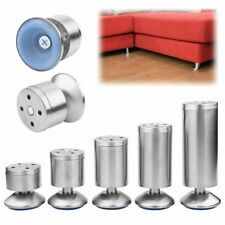 2/4PCS Stainless Steel Furniture Leg Cabinet Sofa Leg Couch Plinth Feet Bed Base