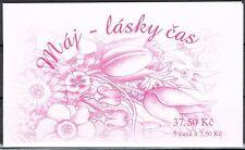 Tschechische Republik 471 MH 0-126 ** Glückwunschmarke Rose m.Geige (3945)