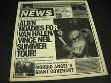 Van Halen Vince Neil Babes In Toyland Morbid Angel Rare 90s promo newspaper Mint