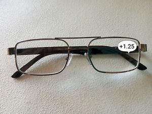 CE +1.25 HIGH QUALITY DESIGNER EYE-LEVEL METAL / BLACK  Reading glasses