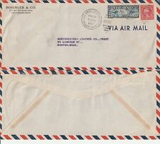 US 1937 COMMERCIAL FLOWN COVER LOS ANGELES CALIF TO BOSTON MASS