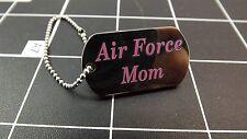 "BRAND NEW Lapel Pin U.S. Air Force Logo ""MOM""  DOG TAG W/ CHAIN Enamel"