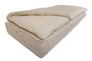 Mattress topper made from hemp, cotton, sheep's wool. Cover: Organic Cotton