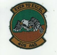 US AIR FORCE PATCH - 405TH AGS (AIRCRAFT GENERATION SQUADRON)