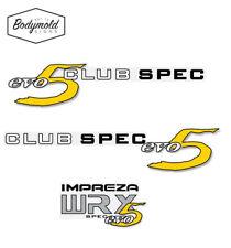 Subaru WRX CLUB SPEC evo 5 Sides and Rear Decal set