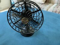 Vintage Mini Oscillating Fan-works-battery Or AC(not Incl.) great Cond.