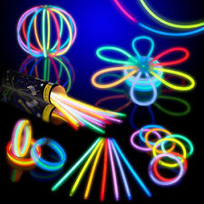 "4000 8"" Premium Glow Sticks Bracelets Necklace Party Favors Rally Rave Glowlight"