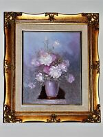 Robert Cox Original Oil On Canvas Floral Vase Painting Beautifully Framed