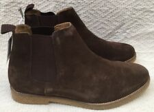 New Men's Next Suede Leather Chelsea Brown Suede Ankle Boots Pull-On Size 9 E 43