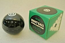 Vtg Avon Eight Ball Glass 3 oz Spicy After Shave Decanter Bottle Billiards Pool