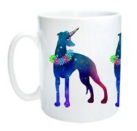 Whippet Unicorn Dog Mug - Whippicorn.  Lurcher Greyhound Mothers Day Gift Mug