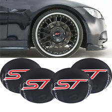 4x Wheel Center Hub Caps Emblem ST Badge Decal 5.6cm Sticker Fits For All S252