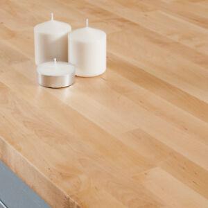 Küchenarbeitsplatte Massivholz Birke, Vielzahl von Größen, EU hergestellt