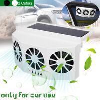 3 Fans Solar Panel Car Window Exhaust Fan Auto Air Vent Ventilation    ! q@^ ✔
