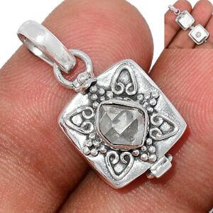 Poison - Herkimer Diamond - USA 925 Sterling Silver Pendant Jewelry BP98739