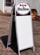 König Pilsener, Premium, Kundenstopper, Werbeaufsteller Vollaluminium, sehr edel