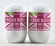 (2 Pk) Keep it Kind ~ FRESH KIDZ Girls Pink Deodorant ~ Aluminum Free ~ 1.86 oz