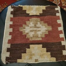 "Cushion Case KILIM Turkish Aztec Southwestern Size 17.5"" x 17.5"" Pillow Case"