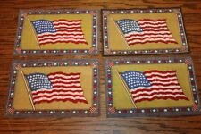 Vintage United States of America USA 48 Star Flag Woven Felt Patch