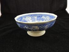 """Villeroy & Boch Burgenland Blue Pedestal Serving Bowl 8"""""""