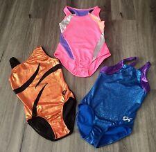 gk elite girls leotard cl Lot Of 3 Gymnastics Outfits Suits Circo M 7-8