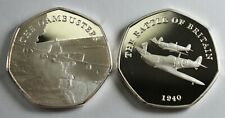 Pair Silver WW2 Commemoratives, DAMBUSTERS & BATTLE OF BRITAIN Albums/Collectors