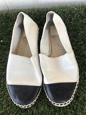 Women's Tory Burch Colorblock Leather Espadrille Flats Size 9.5