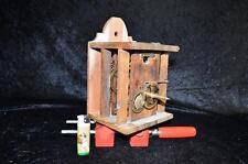 großes Biedermeier Schwarzwälder Uhrenwerk  Holzgespindelt um 1840-60