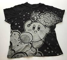 Nintendo Kirby Clouds T-Shirt, Black, Size Large