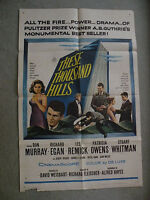 These Thousand Hills Don Murray 1959 original movie poster 27X41 #59/9