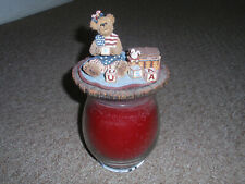 "Longaberger Exclusive, Boyd'S Resin ""All-American Candle Topper"" only. Pre-Owned"