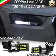 COPPIA LUCI DIURNE DRL 15 LED T20 CANBUS AUDI Q3 6000K 100% NO AVARIA LUCI