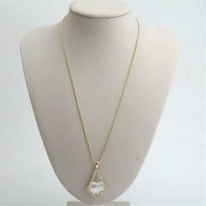 Kendra Scott Alex Gold Pendant Necklace in White Mother of Pearl