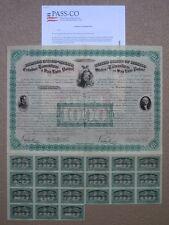 1865 Estados Unidos de Mexico San Luis Potosi 2 Head President 1000 Mexican Bond