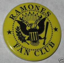 1980's The Ramones Fan Club Pin 1.25""