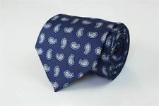 BANANA REPUBLIC Silk Tie. Excellent Blue w White Paisley Pattern