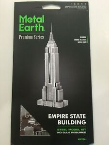 Fascinations Metal Earth Empire State Building Laser Cut 3D Metal Model Kit NEW